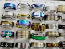 50pcs Men's Mixed BIG Size 20/21/22/23 mm Stainless Steel Band rings Wholesale Fashion Jewelry Lots
