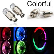 2 Pcs Firefly Spoke LED Colorful Flash Lamp Wheel Valve Cap Tire Neon Light Lamp For Bike Bicycle Car(China)