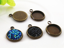 Buy 20pcs 12mm Inner Size Bronze Plated Brass Material Simple Style Cabochon Base Cameo Setting Charms Pendant Tray (A1-16) for $1.48 in AliExpress store