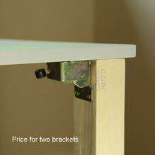 pair folding table leg bracket extension tables foldable self lock folded feet