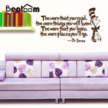 English Aphorisms Wall Stickers Home Decor Celebrity Famous Words PVC Wall Paper for Study Living Room Removable Wall Decals(China)