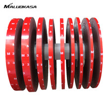 MALUOKASA 3M Auto Tape 6/8/10/15/20mmx3m Double Side Sticker Acrylic Foam Adhesive Attachment Interior Tape Screen Repair Tape