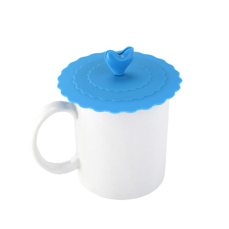 WZYTEU 8 piezas de silicona cubierta de taza reutilizable de grado alimenticio con forma de gota de agua,a prueba de fugas,antipolvo,herm/ético,para la oficina en casa,caf/é,taza de t/é o taza de vidrio