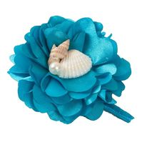 Silk Fashion Artificial Peony Groom Boutonniere Corsage Flower in  Wedding Church Beach Decor Blue FL5354