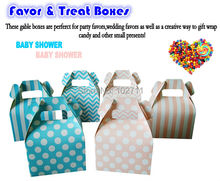 Blue Boy  Pink Girl Weddding Candy Box  with Handle Baby Shower Wedding Party Gift Favour Boxes perfect size for kids party