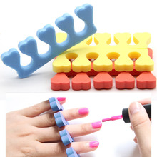 50 Pieces Finger Toe Separator Nail Art DIY Tool Manicure Pedicure Feet Care Sponge Separator Foot Care Little Toe 2017 New Sale