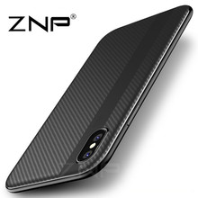 ZNP Luxury PC + TPU Cover Cases For iPhone X Case 10 Durable Protective Phone Case Coque Shell For Apple iPhone X 10 Cases(China)