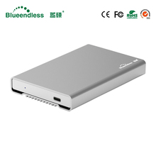 "New Aluminum HDD Enclosure 2.5"" Mobile Hard Disk Case Type C Sata USB 3.1 Caddy All Metal Case Notebook External Hard Disk Box(China)"
