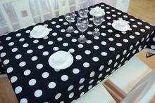 Cute White Polka Dot Table Cloth Fashion Dark Blue White Tablecloth Modern Western Dining Table Set Designer Table Overlays
