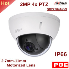 Dahua PTZ Camera SD22204T-GN 2MP 4x PTZ Network Camera 2.7mm-11mm Motorized Lens Support PoE for Outdoor ip camera security cam