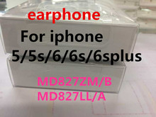 50pcs/with retail packing AAAA Quality headset In-Ear headphones With Remote Mic for iphone 4s 5 5s 6 6S plus