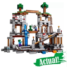 Buy Lepin Minecraft 18011 922pcs World Mine Building Blocks Bricks anime action Figures educational Toys children 21118 for $47.98 in AliExpress store