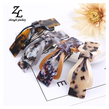 Multicolored acrylic French Cellulose Acetate Hair Clip bowknot Barrette Hair Bands Fascinator Accessories para 2017 ZHONGLV