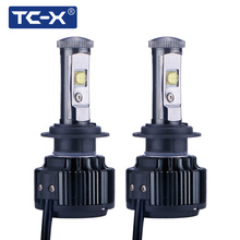 TC-X H7 LED 6000K EMC LED Car Light Conversion Kit Play and Plug H11 9006/HB4 880/H27 9005/HB3 H4 Hi/Lo 12V Led Headlight Bulbs(China)