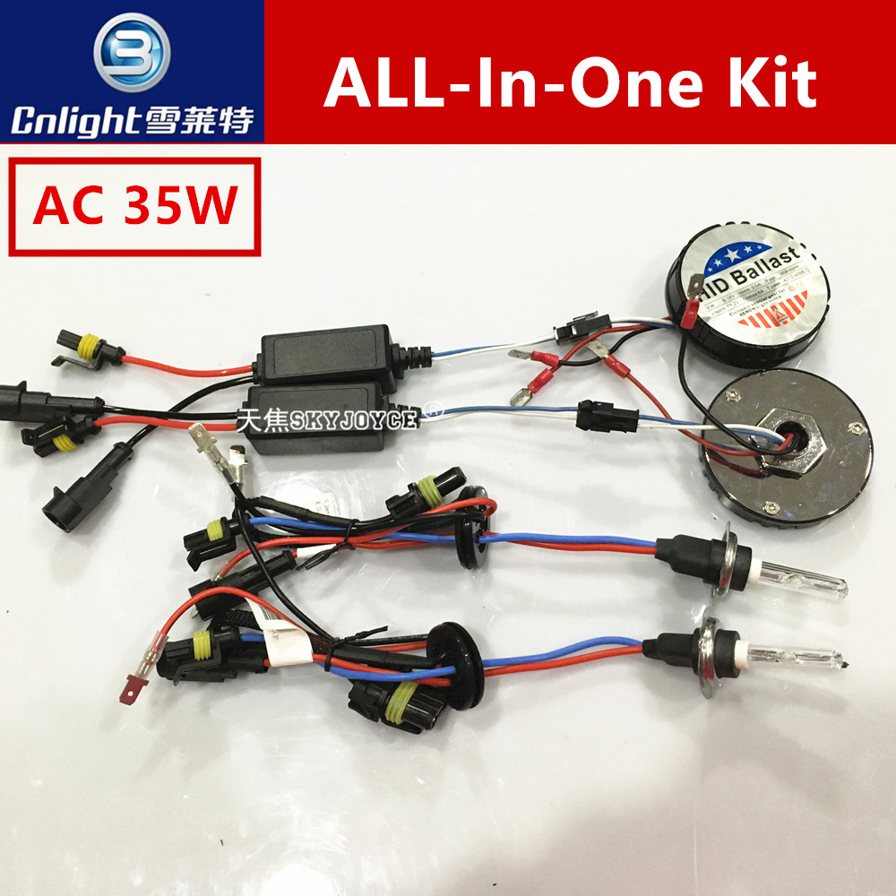 1 set 12V 35W all in one hid kit mini for all with Cnlight hid xenon lamp bulb H1 H3 H7 H8 H9 H10 H11 9005 9006 H27 Nissan<br>