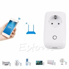 Wifi Cell Phone Wireless Remote Control Switch Timer Smart Power Socket EU Plug