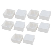 Hot Sale 10Pcs/lot 86mmx86mmx40mm White Pvc Single Gang Wiring Mount Back Box For Wall Socket Switch Surface Type(China)
