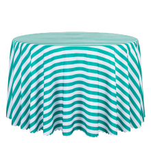 10PCS Decoration Stripe Printed Tablecloth Round Wedding Hotel Dining Table Covers Rectangular Green Red Table Linen Wholesale