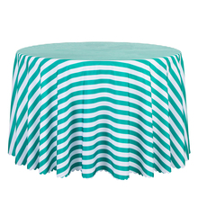 10PCS Decoration Stripe Printed Tablecloth Round Wedding Hotel Dining Table Covers Rectangular Green Red Table Linen Wholesale(China)