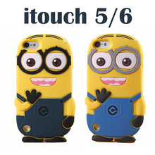 Cute 3D Cartoon  DESPICABLE ME 2 Yellow Minions Soft Silicone Case Skin Cover For Apple iPod Touch 6 6th 6G Touch 5 5th 5G