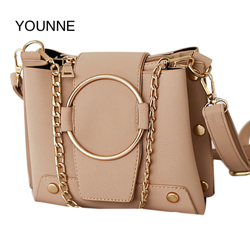 YOUNNE Hot Sale Candy Color Women PU Leather Bow Handbags Women Shoulder Bags Fashion Bag Female Lady Pink Crossbody Bag<br>