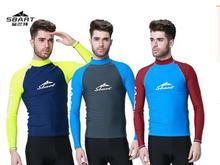 2015 Sbart and sun swimsuit surf wear long sleeved jacket snorkeling jellyfish clothes diving suit beach shirt T-shirt