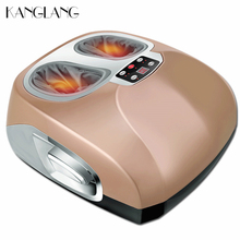 KANGLANG Electric Heated Shiatsu Air Pressure Leg Foot Massager Machine Reflexology Foot Massage Vibration Home Massage Device