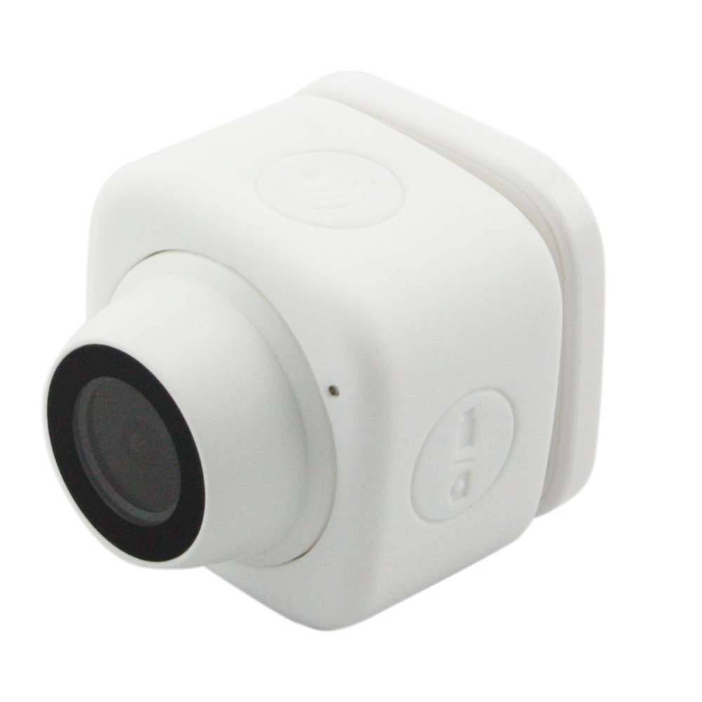 White 720P HD Selfie Camera Wide Angle Mini Micro USB WIFI Camera TF Card Record for IPhone Android smart phone<br>