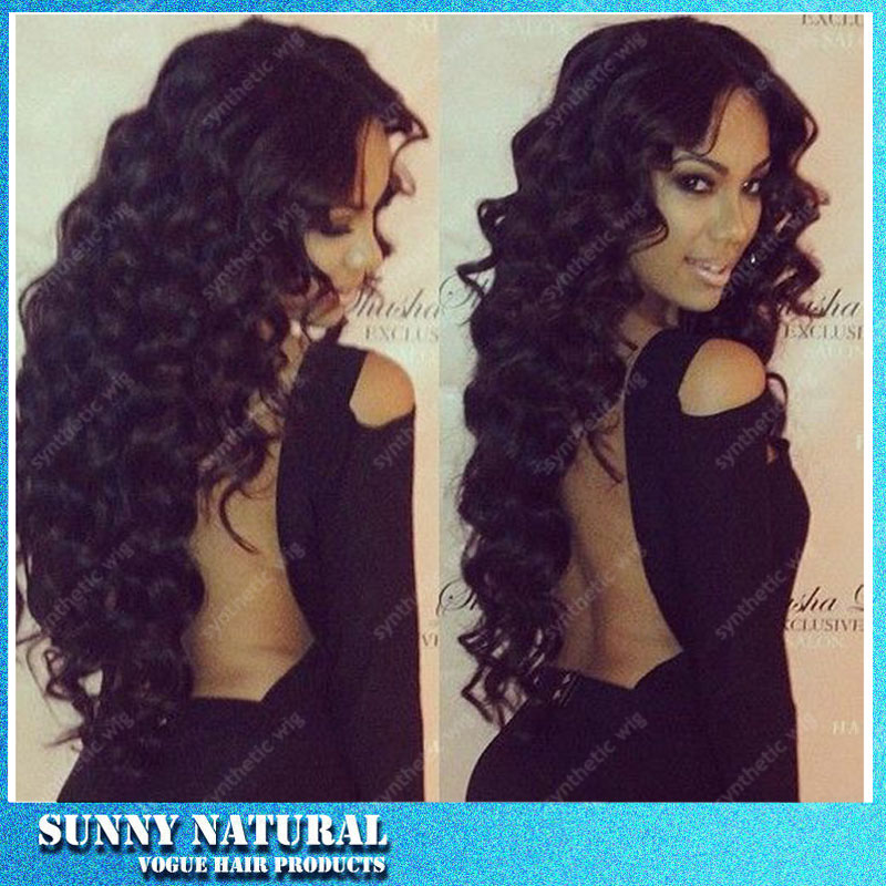 Free shipping high Quality heat resistant fiber Afro curl kinky curly Synthetic lace front wig with baby hair for Black Women<br><br>Aliexpress