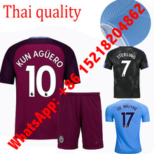 sales 2017 Top Best Qualit Manchesteer CITYS Soccer jersey Adult 17 18 Home Away 3RD 2017 Men football shirt 2018(China)