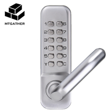 MTGATHER Mechanical Door Locks Keyless Digital Machinery Code Keypad Password Entry Door Lock 141x43x26mm Zinc Alloy(China)