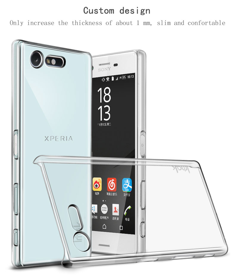 Original IMAK Clear Crystal Silicone Case Sony Xperia X Compact Case Wearproof Hard Case Sony Xperia X Compact