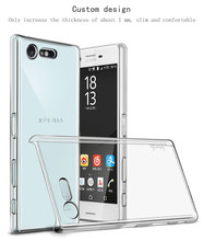 Buy Original IMAK Clear Crystal Silicone Case Sony Xperia X Compact Case Wearproof Hard Case Sony Xperia X Compact for $4.20 in AliExpress store