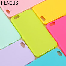 New Fashion Thin Slim Candy colors Soft TPU Silicon phone cases For iphone 6 6s 6plus 7 5 5s 5c SE phone shell Coque