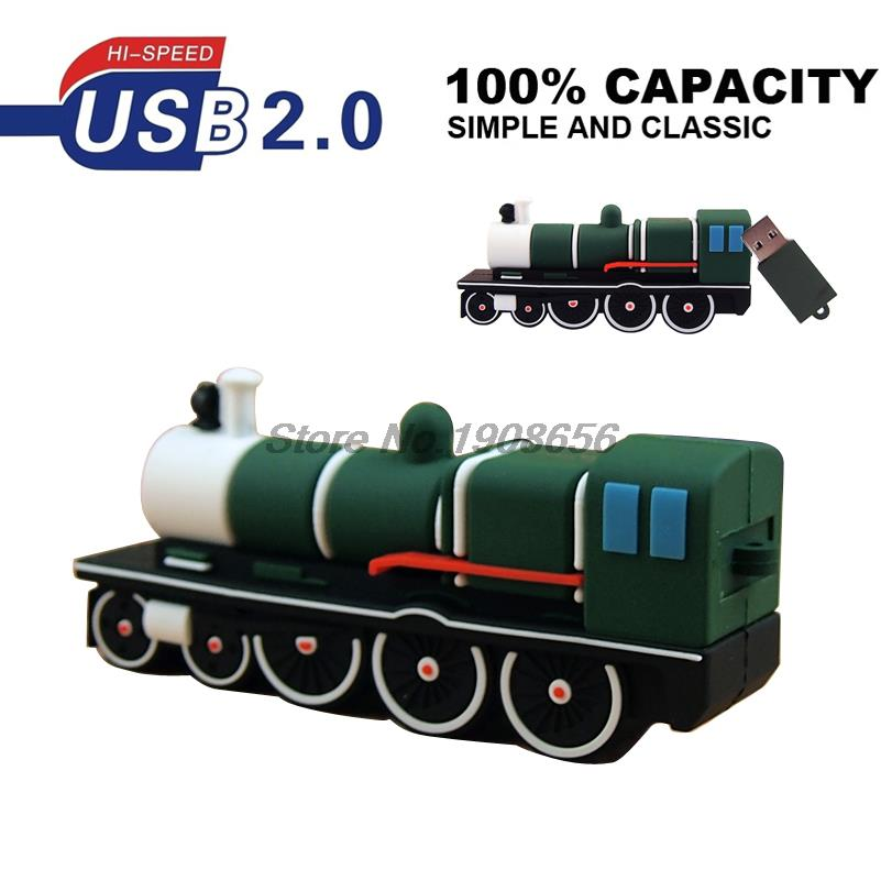 New hot cartoon USB flash drive mini train USB stick 4gb 8gb 16gb 32gb Pen drive special gift Flash drive free shipping(China)