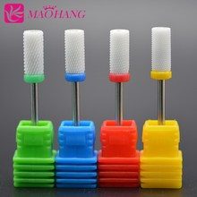 MAOHANG 3/32'' Ceramic nozzle nail drill bit mill cutter for electric drill manicure pedicure machine(China)