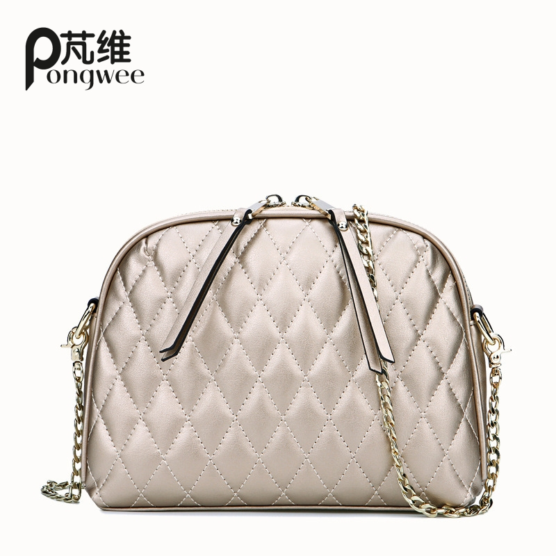 PONGWEE Fake Designer Handbags 8 Color Shell Quilted Women Messenger Bag Femal Casual Shoulder Crossbody Bags for Women<br>