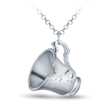 HSIC Once Upon A Time Rumbelle Bella Clip Tea Cup Necklace&pendant Environmental Alloy Jewelry Hot Jewelry