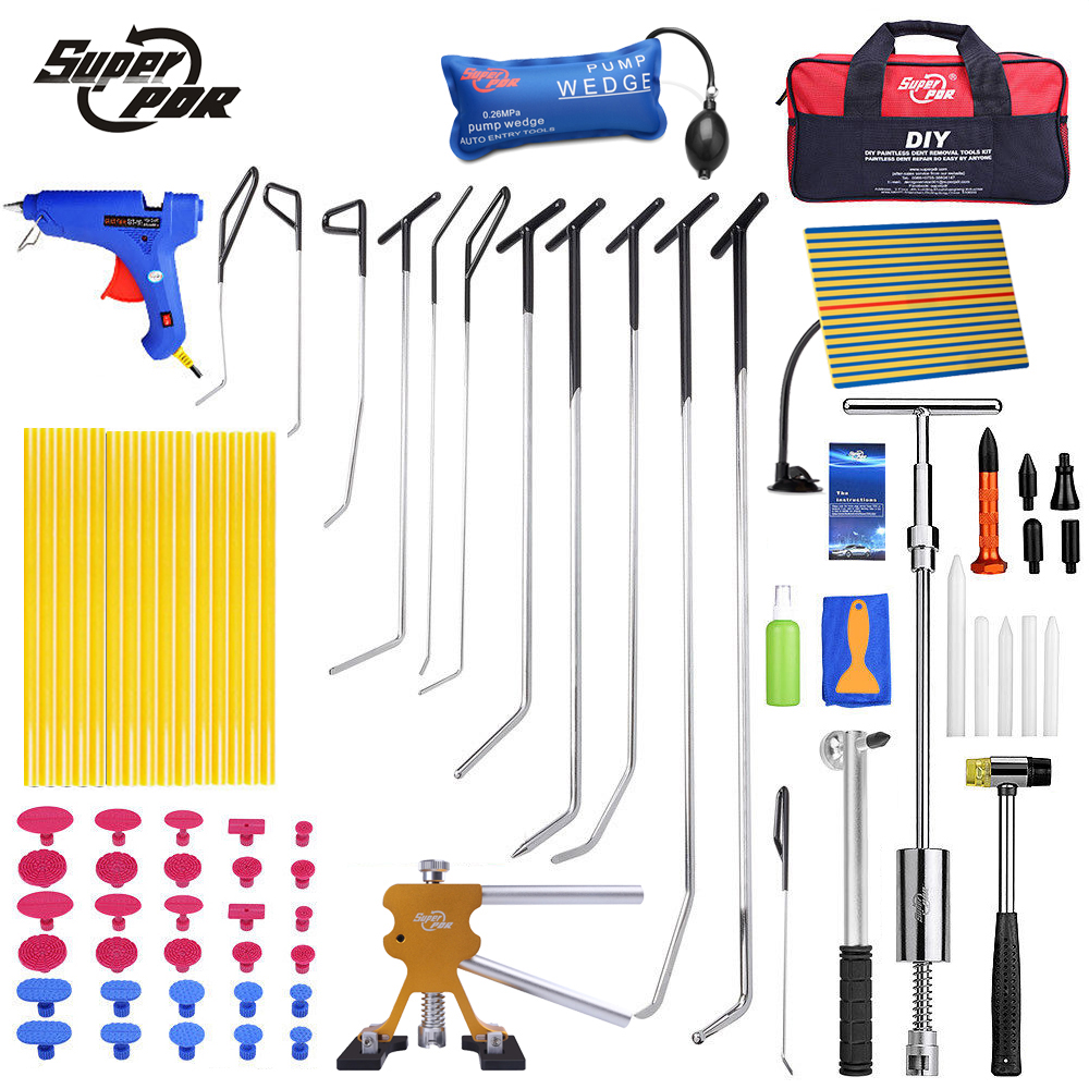 Super-PDR-Paintless-dent-repair-tools-set-PDR-hooks-push-rods-profession-car-body-dent-removal