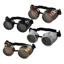 Hot Marketing Hot Selling Vintage Style Steampunk Goggles Welding Punk Gothic Glasses Cosplay Free Shipping Wholesale Cinto
