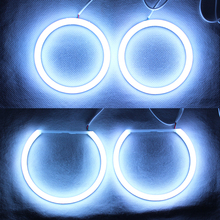 RGB Angel Eyes Cotton Light LED Light DRL Turn Light For Car Headlights - One set(China)
