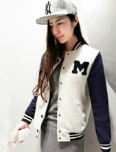 New Arrival 2017 Tops Fashion Autumn Winter Female Casual Baseball Color Outerwear Pullover Suit Jackets Base Ball Suit