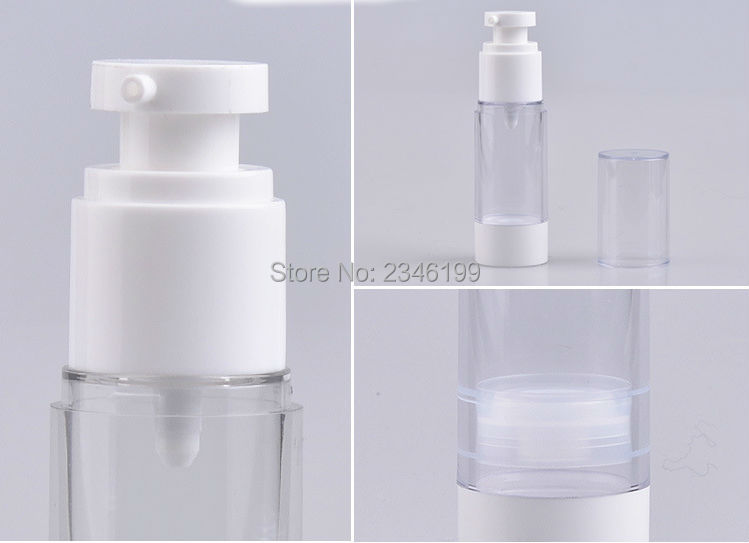 Dewarflask Plastic Bottle Transparent Spray Emulsion Bottle Lotion Pump Vacuum Spray Bottle Travel Bottling 20pcsLot (5)