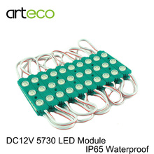 20pcs DC12V 5730 3LEDs LED Module with Lens Super Bright IP65 Waterproof LED modules 5730 for Billboards Advertising Light box