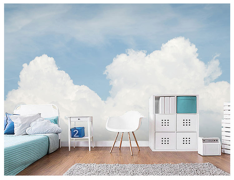 HTB1tBNCfbwrBKNjSZPcq6xpapXai - Pink Sky Cloud 3d Cartoon Wallpaper Murals for Girls Room-Free Shipping