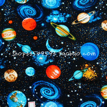50*105cm Gorgeous little universe/ Space galaxy cotton fabric Sewing DIY Handmade Material Hometextile Patchwork BABY Bedding(China)
