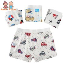 5pcs/lot Children's Underwear Cotton Boy's Flat Pants Boxer Cartoon Car Bear Bear Underwear TNM 0104(China)