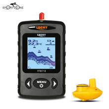 Lucky FFW718 Wireless Fish Finder 2.0~147.6FT Sonar Depth Sounder Fishfinder Russian&English Sea Waterpoof Sensor Fishing Camera(China)