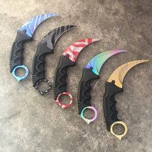 3D Printed Keychain CSGO Karambit Replica Cosplay Collectioners-BlackGrey White RED Slaughter GAME knife Claw Knife Factory made