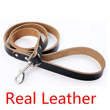 100% Real Leather dog leads big dog rope pet Cordage dog chain cat string medium dogs pet tracking leash strong for large pet